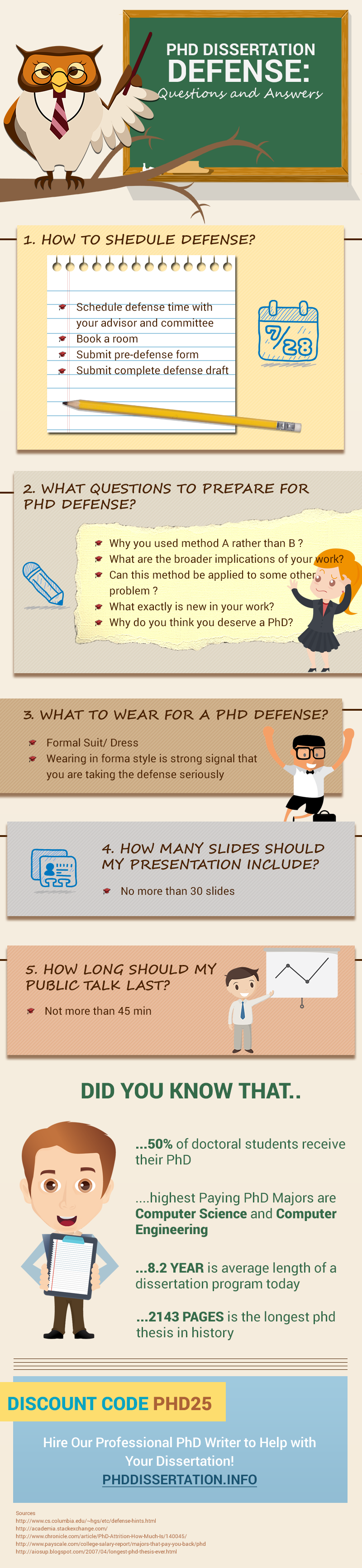 doctoral dissertation defense questions Thesis/dissertation defense and revisions typical defense format: the student presents the results of the research in 15-30 minutes, followed by questions from the audience and committee.