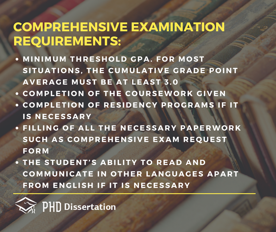 comprehensive exam requirements