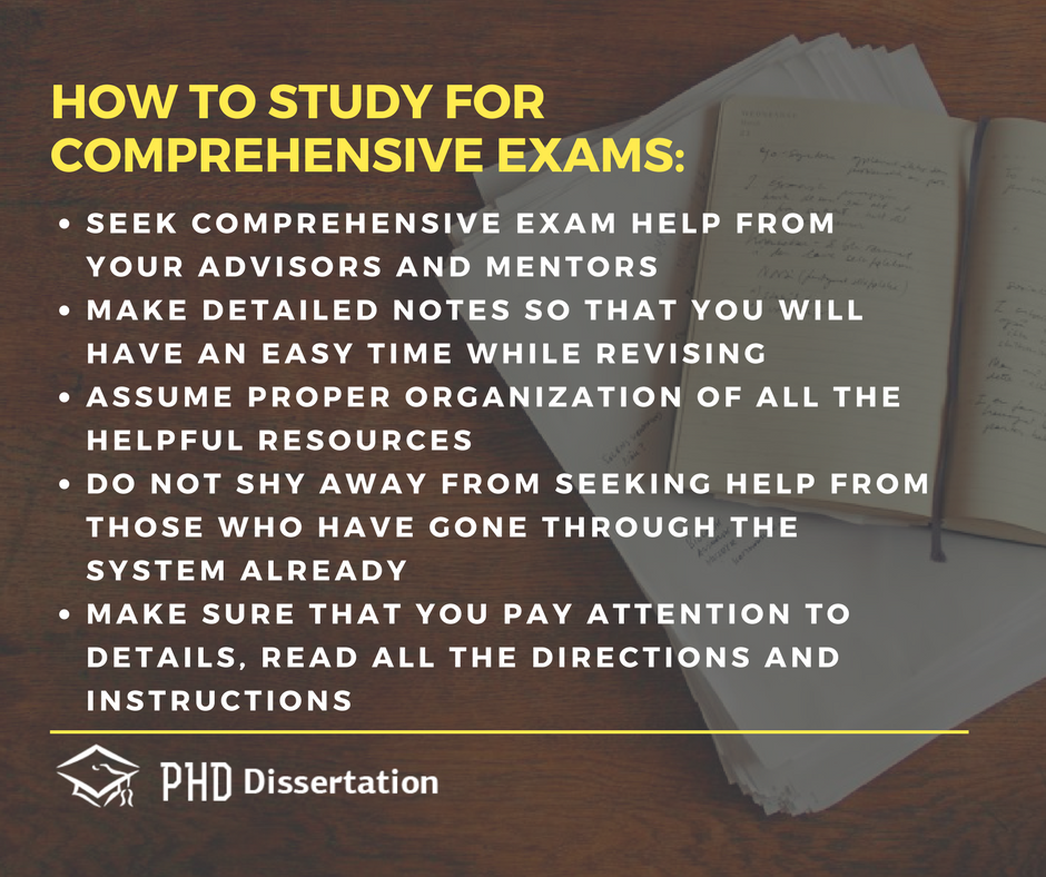 how to study for comprehensive exams