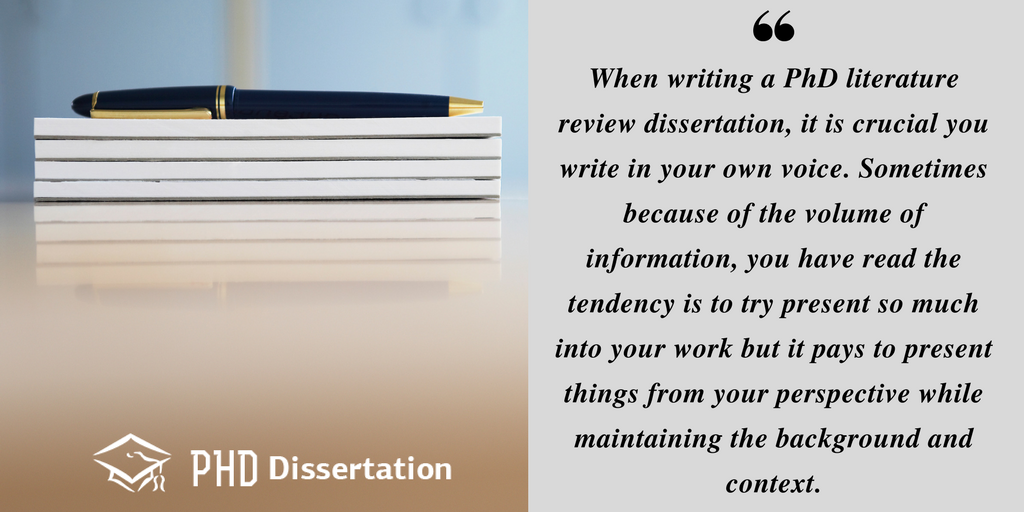 advice on writing a literature review phd